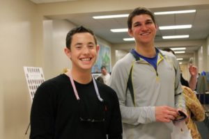 Sawyer Biven '13 & Caleb Buse '13 enjoy the cookies
